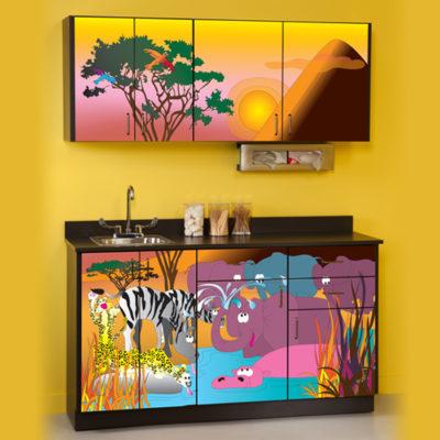 Serengeti Sunrise Cabinets