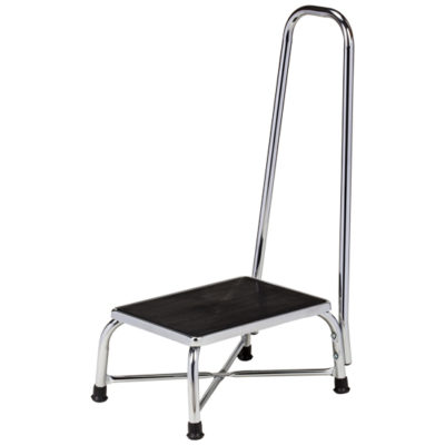 Large Top Bariatric Step Stool with Handrail