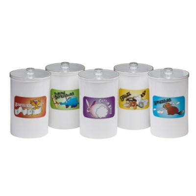 Labeled, Opaque Plastic, Animal Pals, Sundry Jars