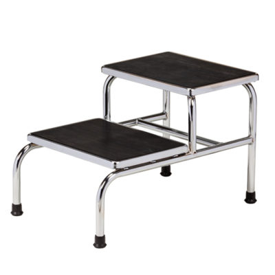 Chrome Two-Step Step Stool