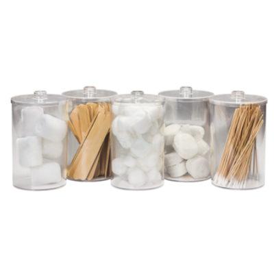Unlabeled, Clear Plastic, Sundry Jars