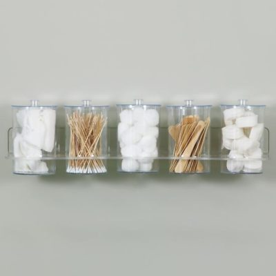 Clear Acrylic Wall Mount Jar Rack