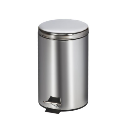 Small Round Stainless Steel* Waste Receptacle