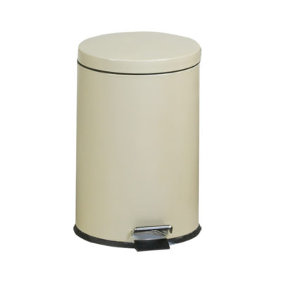Medium Round Beige Waste Receptacle