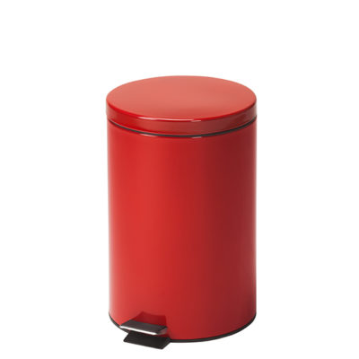 Medium Round Red Waste Receptacle