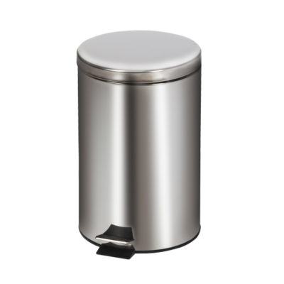 Medium Round Stainless Steel* Waste Receptacle