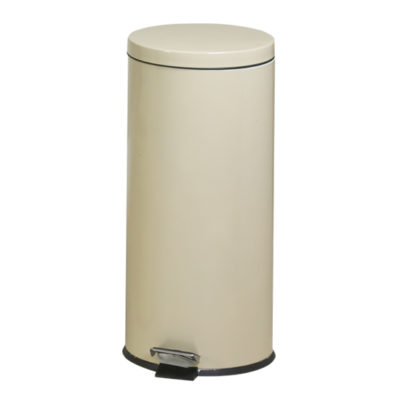 Large Round Beige Waste Receptacle