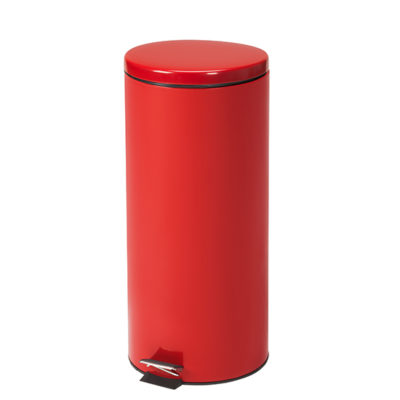 Large Round Red Waste Receptacle