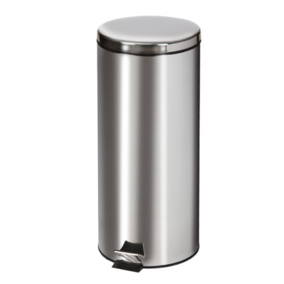 Large Round Stainless Steel Waste Receptacle