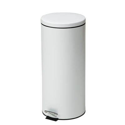 Large Round White Waste Receptacle